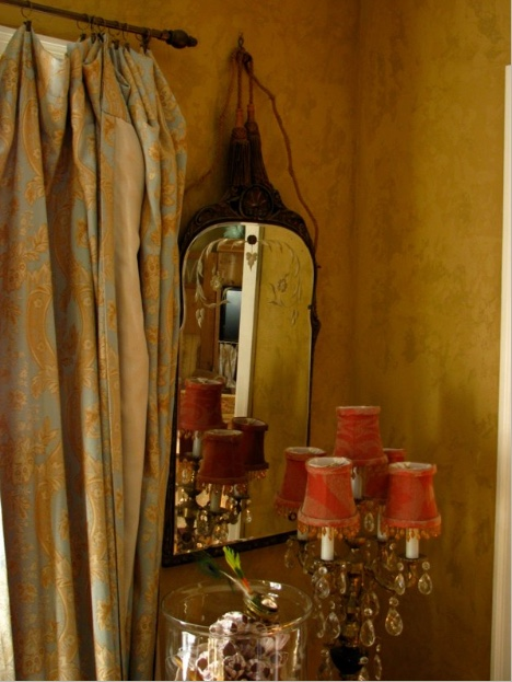 mirror and lamp