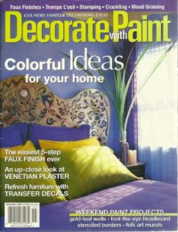 Purple Decorate with Paint Cover
